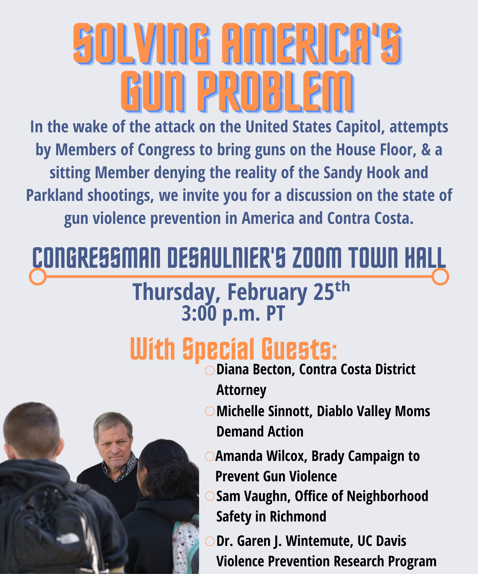 Solving America's Gun Problem – Attend  Congressman Desaulnier's Town Hall